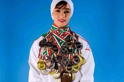 رحيل بطلة الكاراتيه آمال بوشارف